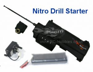 Nitro Electric (Drill) Starter + rechargeable Battery & Charger