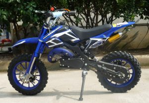 Mini Moto 50cc Dirt Bike KXD01 Blue Left