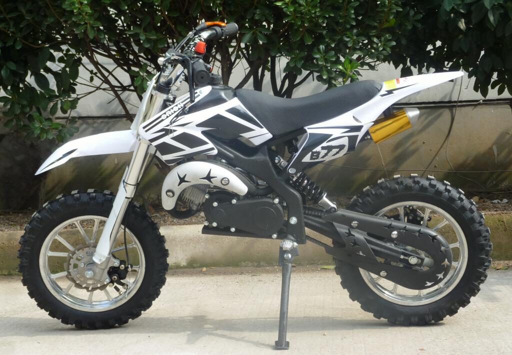 mini moto cc dirt bike kxd white left