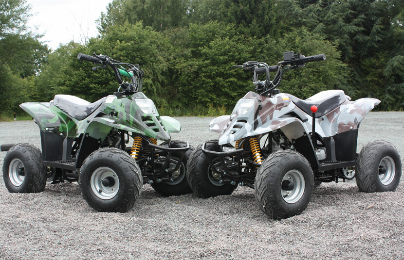 110cc Quad Bike Thunder Cat 4 Stroke with Electric Start and Reverse Gear Camo Version