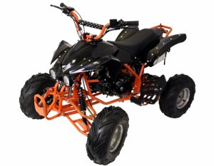 125cc_4_Stroke_Quad_Bike_Intreceptor_Orange_Front_Left