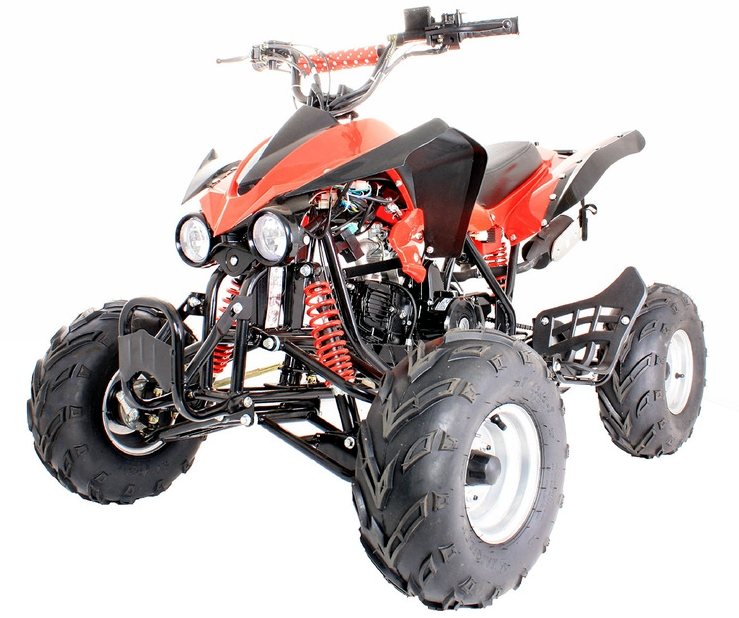 interceptor 125cc quad bike 4 stroke electric start with reverse