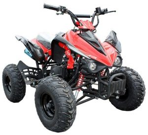 125cc_4_Stroke_Quad_Bike_Intreceptor_Red_Front_Right