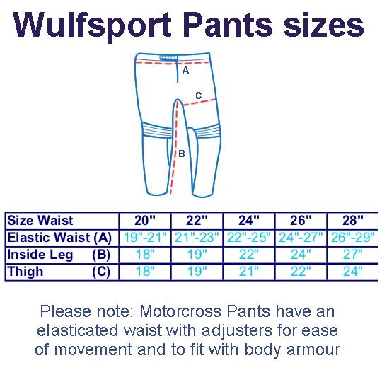 Wulfsport_WSX-4_Cub_Motocross_Pants_Size_Chart