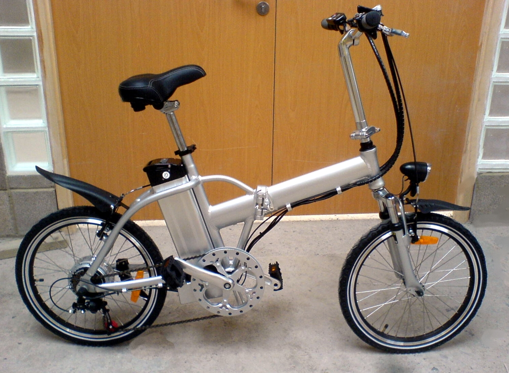 Electric folding bike 250w brushless motor 36v 10ah li ion for Bicycles with electric motors
