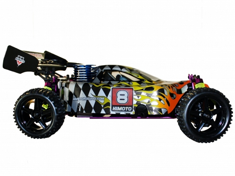 Himoto racing nitro rc buggy 1 10 scale 2 speed 4wd 2 4ghz 8102 rage
