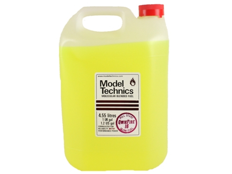 Model technics qwikfire nitro glow fuel 16 lt rc for Rc electric motor oil