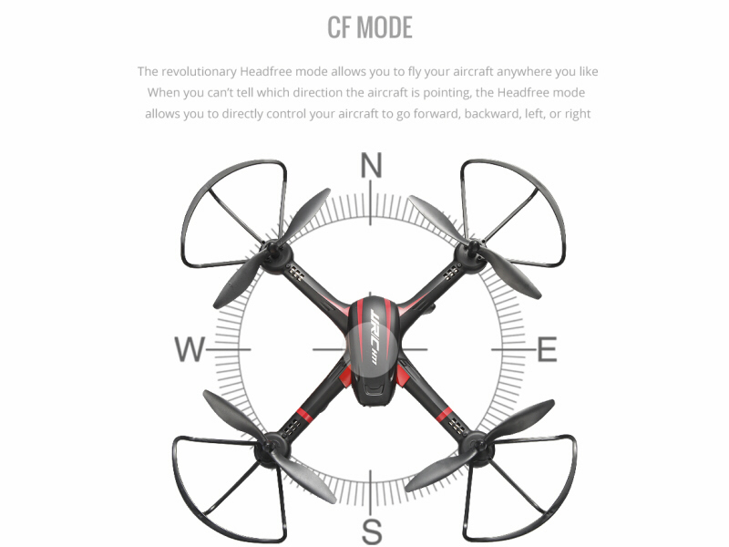 JJRC H11W 4ch RC Quadcopter Drone with Wi-Fi FPV CF Mode