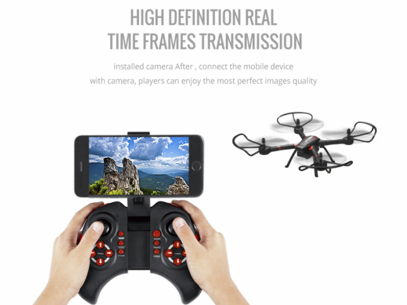 JJRC H11W 4ch RC Quadcopter Drone with Wi-Fi FPV 0.3MP Real-Time Video Camera