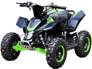 Quad_Mini_Moto_Hawkmoto_SX-49_Green_Front_Left