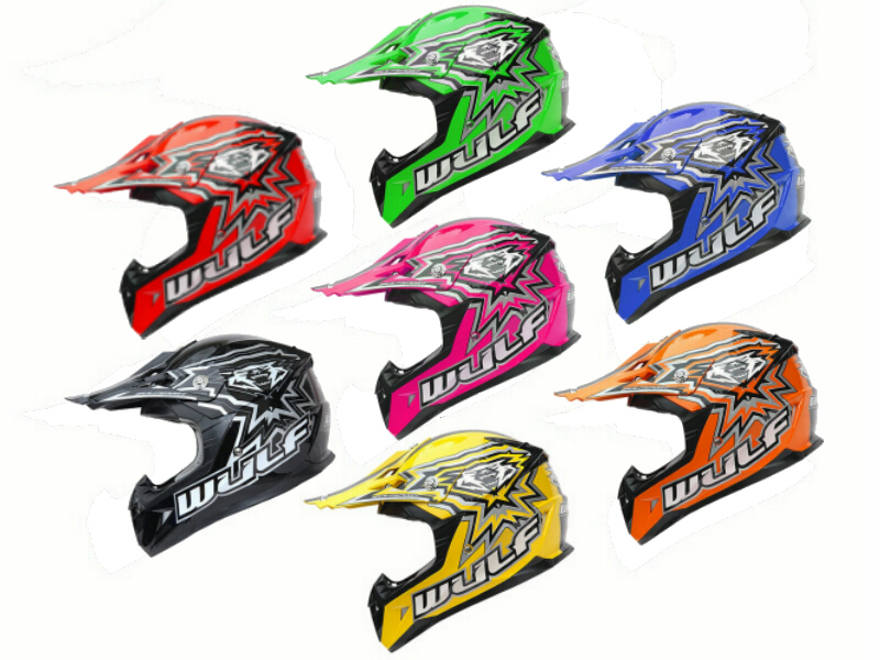 WulfSport Cub Junior FLITE XTRA Motocross Helmet - Latest design