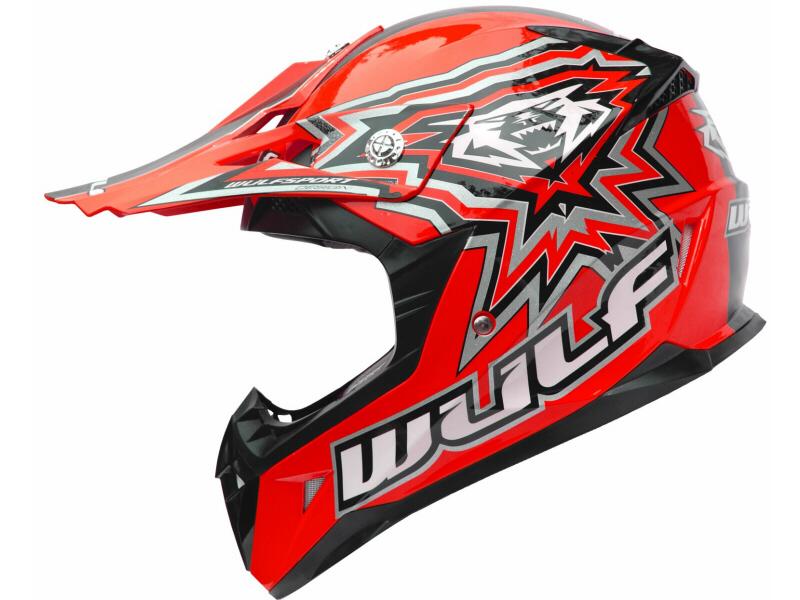 WulfSport Cub Junior FLITE XTRA Motocross Helmet