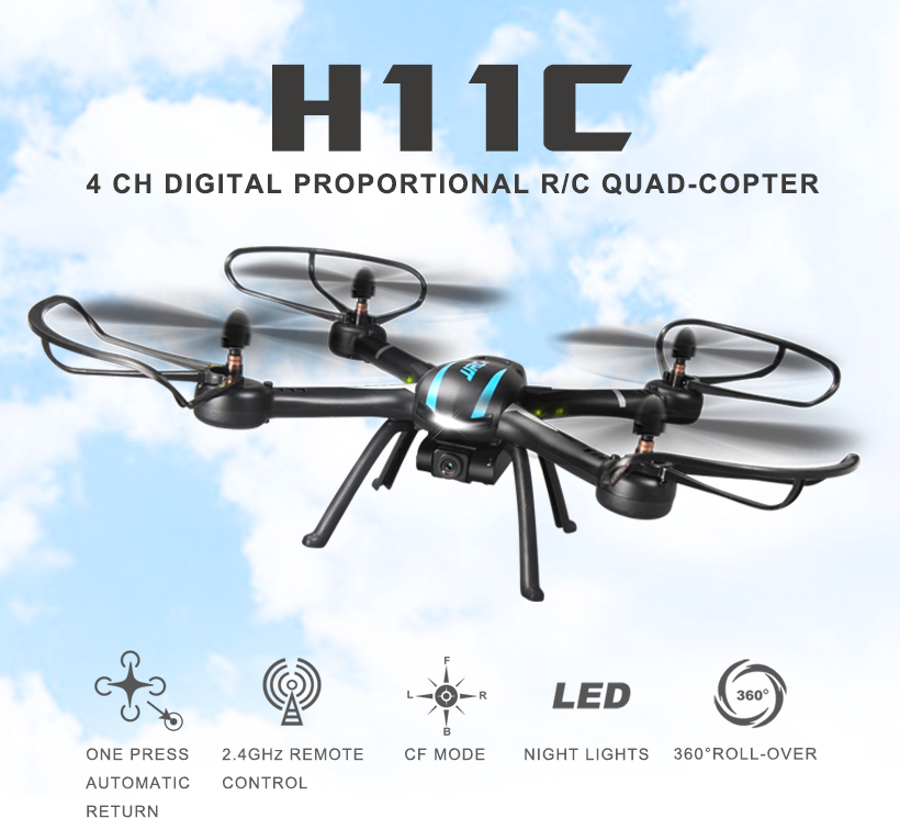 JJRC H11C 4ch RC Quadcopter Drone with 2MP Video Camera
