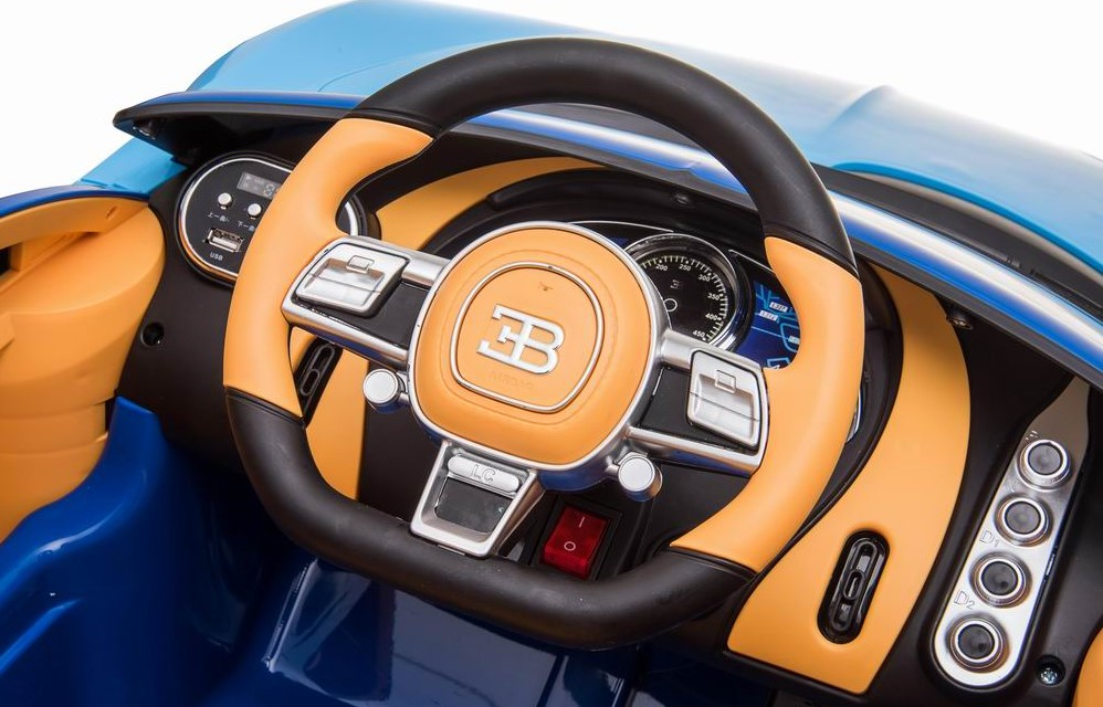 Ride On Fully Licenced Bugatti Chiron 12v with Parental Remote Control