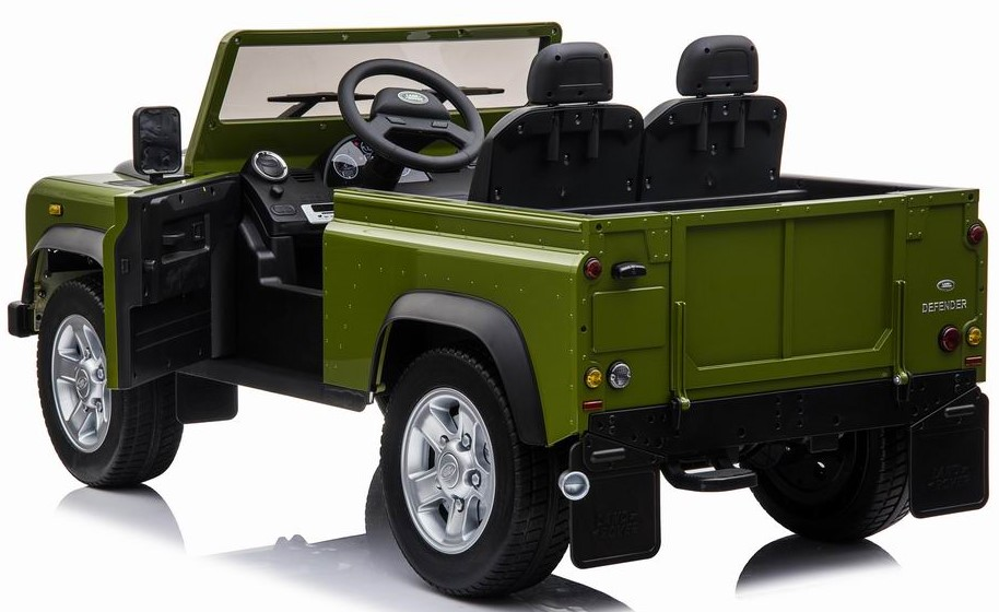 Ride On Fully Licenced Landrover Defender 12v Two Seater with Parental Remote Control